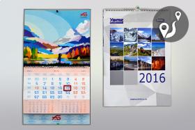 Изготовление календарей в типографии