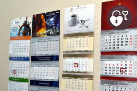 Печать корпоративных календарей в типографии